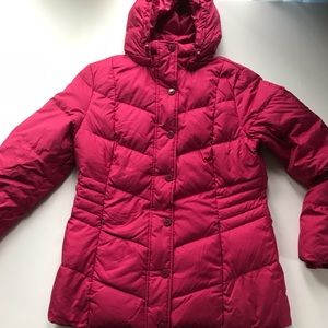 Tommy Hilfiger Puffy Hot Pink Down Jacket